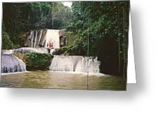 Ys Falls Jamaica Greeting Card