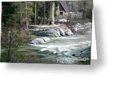 Yuba River At Rainbow Lodge Greeting Card by William Havle