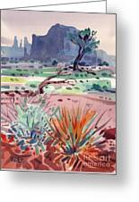 Yucca And Buttes Greeting Card