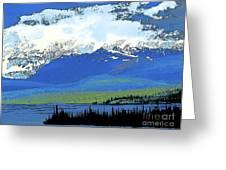 Yukon Mountain Range 3 Greeting Card