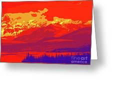 Yukon Mountain Range 4 Greeting Card