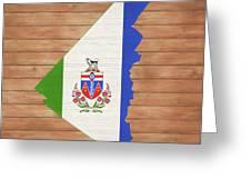 Yukon Rustic Map On Wood Greeting Card