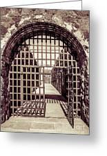 Yuma Territorial Prison Gate Greeting Card