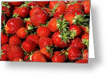 Yummy Fresh Strawberries Greeting Card
