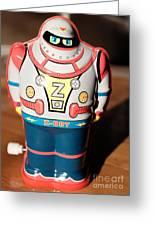 Z-bot Robot Toy Greeting Card