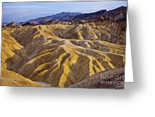 Zabriskie Badlands Greeting Card
