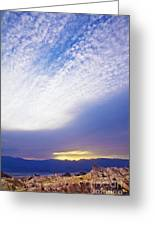 Zabriskie Point Clouds Greeting Card