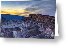 Zabriskie Point Sunset Greeting Card