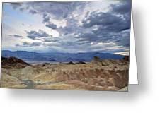 Zabriskie Point Twilight Death Valley Greeting Card