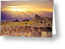 Zabriskie Sunset Greeting Card