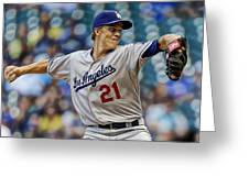 Zack Greinke Los Angeles Dodgers Greeting Card