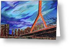 Zakim Bridge - Boston Greeting Card