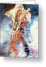 Zakk Wylde - Watercolor 09 Greeting Card