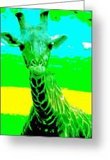 Zany Giraffe Greeting Card