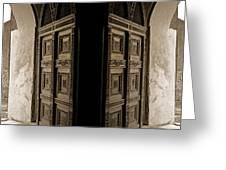 Zanzibar Doors Greeting Card