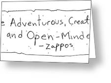 Zappos Core Value Greeting Card