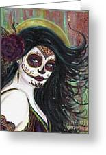 Zatina Day Of The Dead Greeting Card