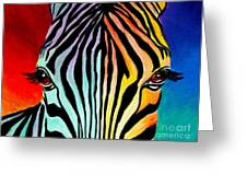 Zebra - End Of The Rainbow Greeting Card by Alicia VanNoy Call
