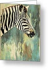 Zebra Abstracts Too Greeting Card