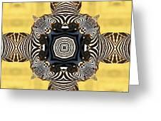 Zebra Cross Greeting Card