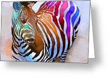 Zebra Dreams Greeting Card