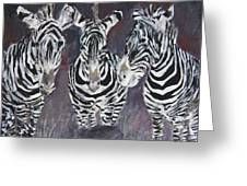 Zebra Oil Painting Greeting Card