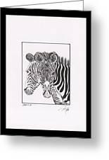 Zebra Series 6 Greeting Card