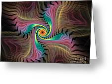 Zebra Spiral Affect Greeting Card