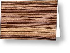 Zebrawood - Natural Abstract Greeting Card
