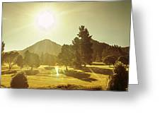 Zeehan Golf Course Greeting Card