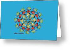 Zeerkl Of Angelfish Greeting Card