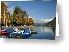 Zell Am See The Elements In Austria Greeting Card