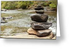 Zen At The Water Greeting Card