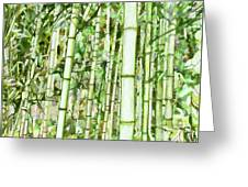 Zen Bamboo Forest Greeting Card