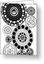 Zen Circles Design Greeting Card