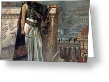 Zenobia's Last Look On Palmyra Greeting Card by Herbert Gustave Schmalz
