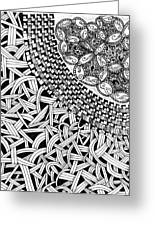 Zentangle Inspired Design Greeting Card
