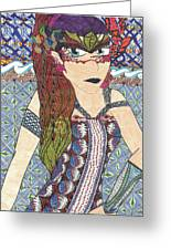 Zentangle Queen  Greeting Card