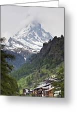 Zermatt Greeting Card by Andre Goncalves