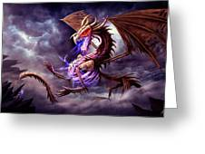 Zerolios - Bone Lighting Dragon Greeting Card