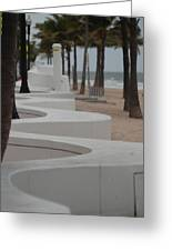 Zig Zag At The Beach Greeting Card