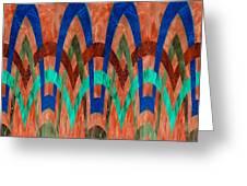 Zig Zag Pattern On Orange Greeting Card