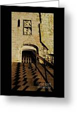 Zig Zag Shadows At Clifford's Tower, York, England Greeting Card