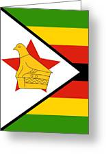 Zimbabwe Flag Greeting Card