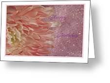 Chrysanthemum Birthday Greeting Card