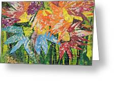 Zinnias Gone Mad Greeting Card