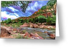Zion At Daybreak Greeting Card