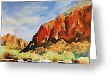 Zion Canyon  Greeting Card