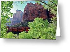 Zion Canyon Red Cliffs Greeting Card