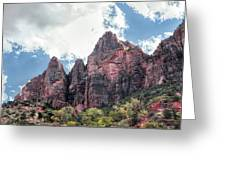 Zion Canyon Terrain Greeting Card